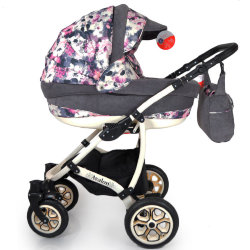 Baby Stroller 2 in 1 AVALON Grey Flower