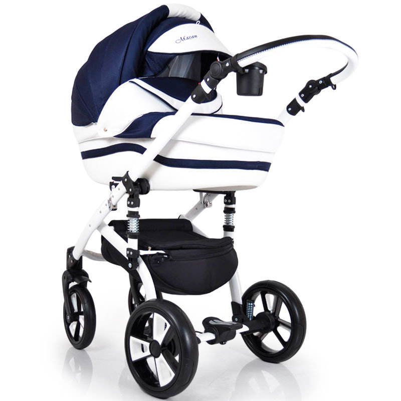 "Baby Stroller 2 in 1 ""MACAN"" White-Blue"