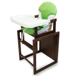 High chair for feeding beech-lux